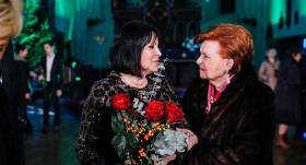 FOTO: <strong>Sabiedrībā zināmi cilvēki</strong> apmeklē Ineses Galantes koncertu <em>Ziemassvētku prelūdija</em>