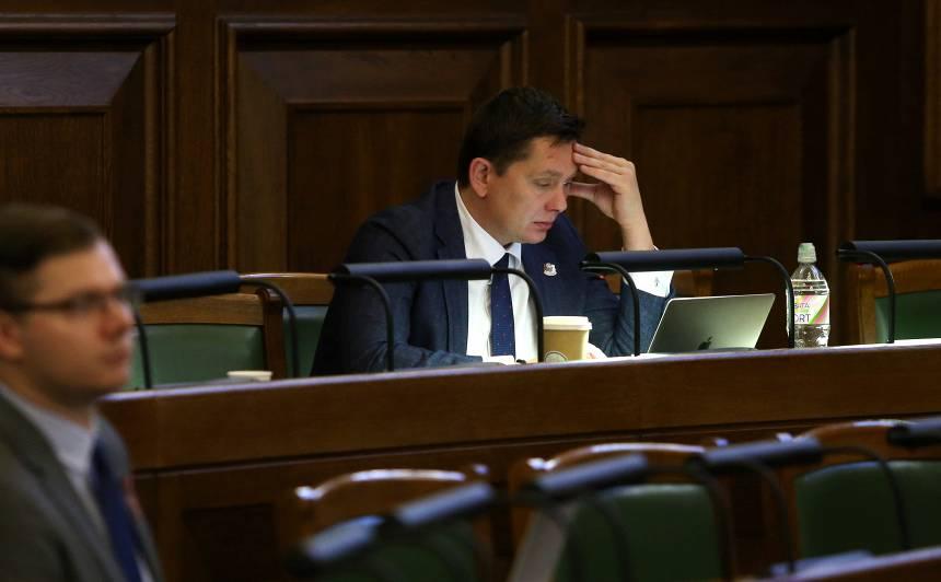 <strong>Kaimiņš aicinās <em>KPV LV</em></strong> biedrus kongresā lemt par <strong>partijas pašlikvidēšanos</strong>