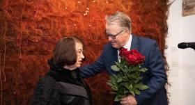 Edīte Pauls-Vīgnere un Guntis Ulmanis