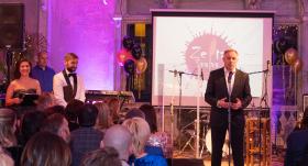 Ar uzrunu viesiem un izdevniecības darbiniekiem pasākumu atklāja valdes priekšsēdētājs Ivars Zariņš