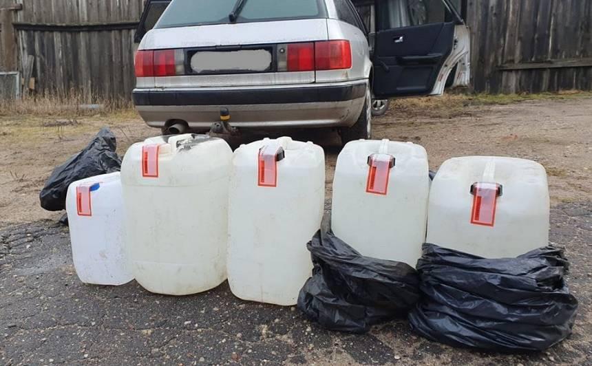 Valsts policija kratīšanas laikā izņem vairāk nekā <strong>500 litrus spirta</strong>