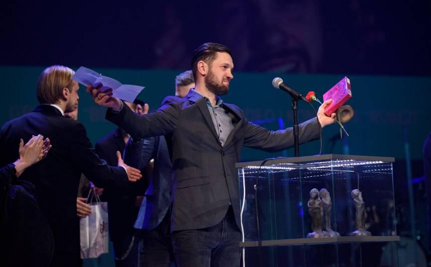 <strong>FOTO: Svinīgā ceremonijā godināti</strong> latgaliešu kultūras gada balvas <em>Boņuks 2019</em> saņēmēji