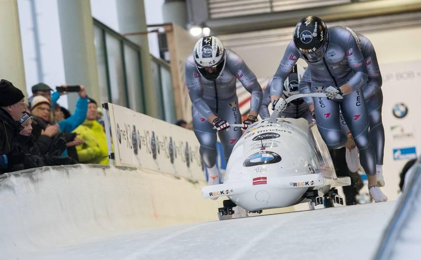 <strong>Medaļām bagāta sestdiena</strong> ledus trasēs Latvijas sportistiem