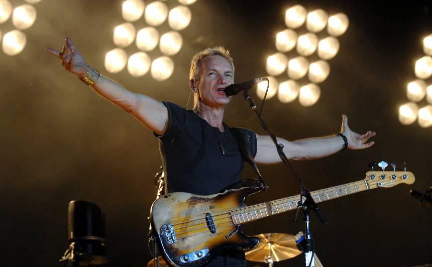 Oktobrī Rīgā atkal <strong>uzstāsies slavenais britu mūziķis Stings</strong>