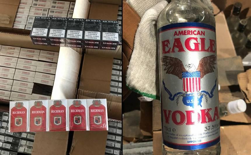FOTO: Policija Rīgā atsavina vairāk nekā <strong>6,5 miljonus cigarešu un 32 tūkstošus litru alkohola</strong>