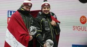 Ķibermaņa/Mikņa divnieks Siguldā <strong>triumfē Eiropas čempionātā bobslejā</strong>