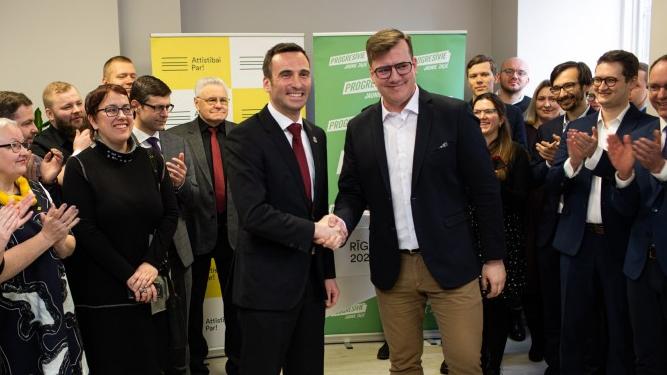 <em>Attīstībai/Par!</em> un <em>Progresīvie</em> <strong>Rīgas domes vēlēšanās startēs kopā,</strong> Staķis būs mēra kandidāts