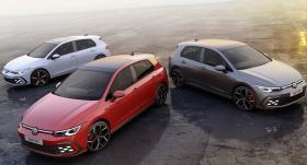 <em>Volkswagen</em> prezentēs <strong>jaudīgos <em>Golf GTI</em>, <em>GTE</em> un <em>GTD</em> modeļus</strong>