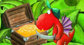 <strong>Mazais pūķis Kokosrieksts turpina priecēt bērnus — </strong> nākusi klajā jau trīspadsmitā grāmata!