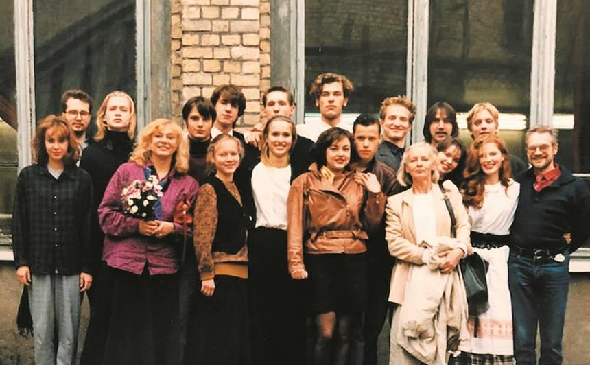 Uzsākot mācības Kultūras akadēmijā - kursā, kurā pirmo reizi kopā mācījaš aktieri un režisori.