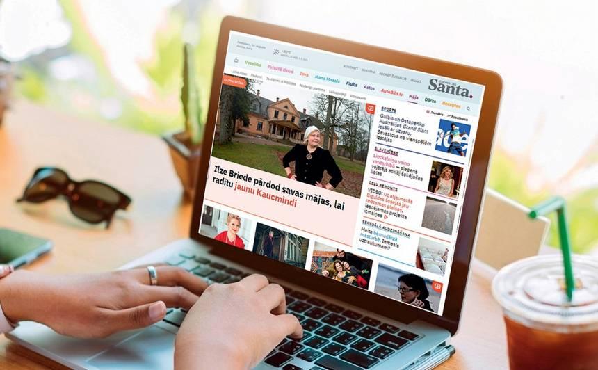 Februārī portāls <em>Santa.lv</em> <strong>sasniedzis 15.vietu Latvijas interneta topā</strong>