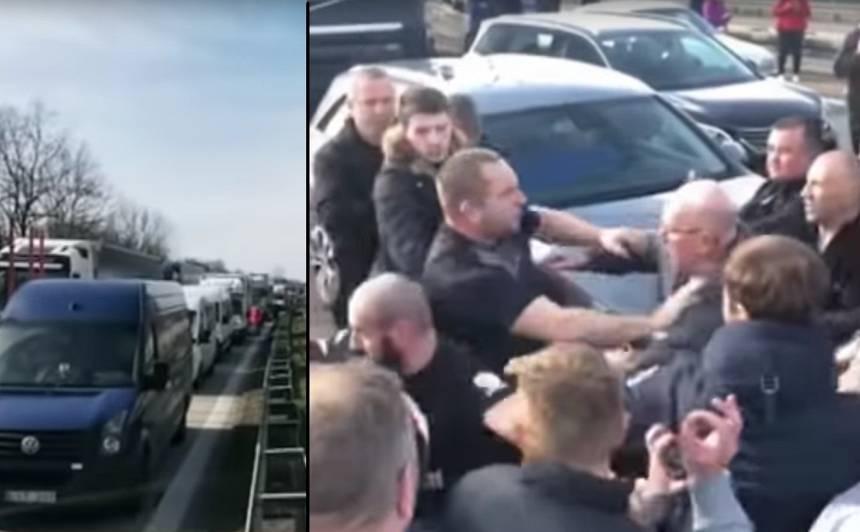 VIDEO: <strong>Simtiem cilvēku iestrēguši uz Polijas-Vācijas robežas,</strong> izceļas pat nemieri