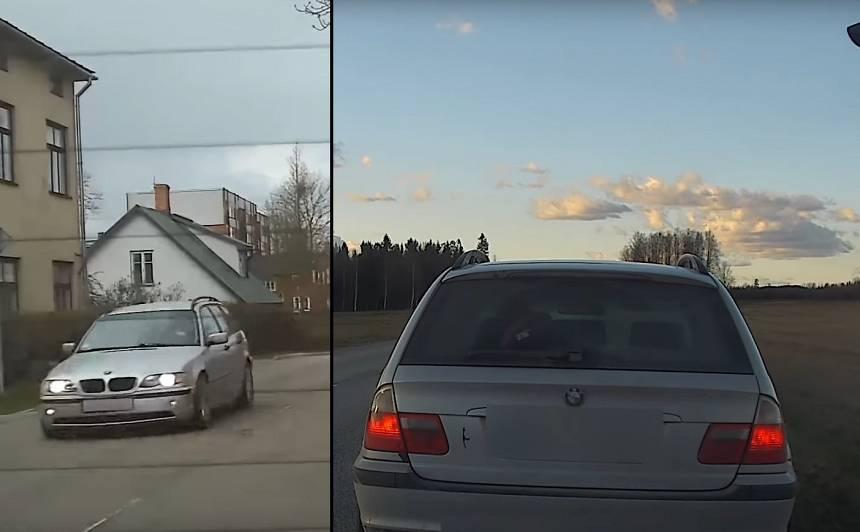 VIDEO: <strong>Alūksnē policija pieķer jaunieti divreiz pārkāpjot ātrumu</strong> un atņem tiesības