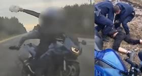 VIDEO: Meklēšanā izsludināts <strong>motociklists uz Vidzemes šosejas <em>pret spalvu</em> bēg no policijas</strong>