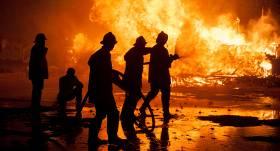Lieldienu brīvdienās <strong>ugunsgrēkā dārza mājiņā sadedzis cilvēks</strong>