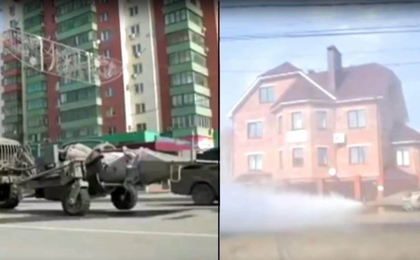 Krievijā izmanto reaktīvos dzinējus, <strong>lai dezinficētu ielas pret <em>Covid-19</em></strong>