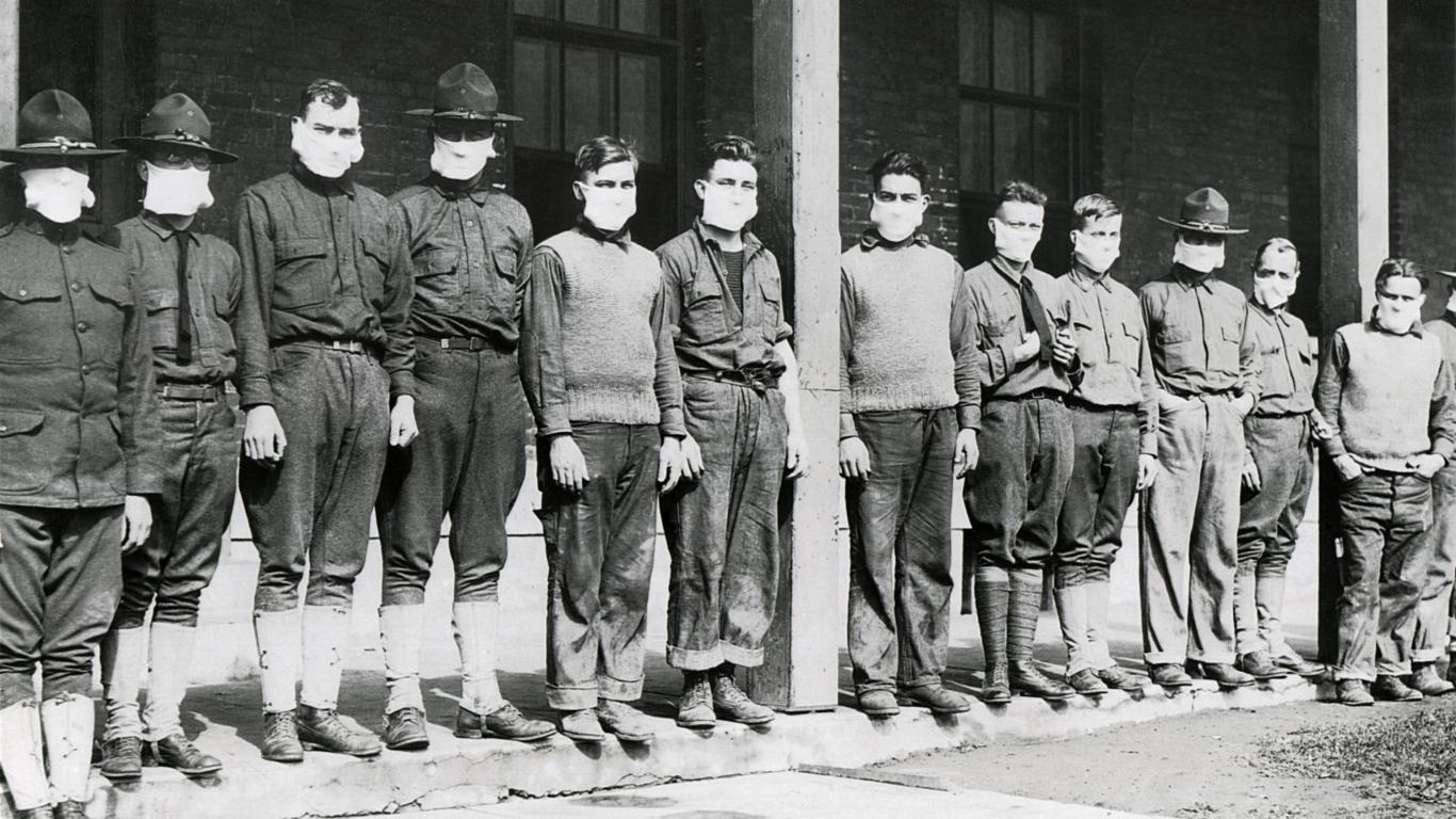 Karavīri spāņu gripas laikā