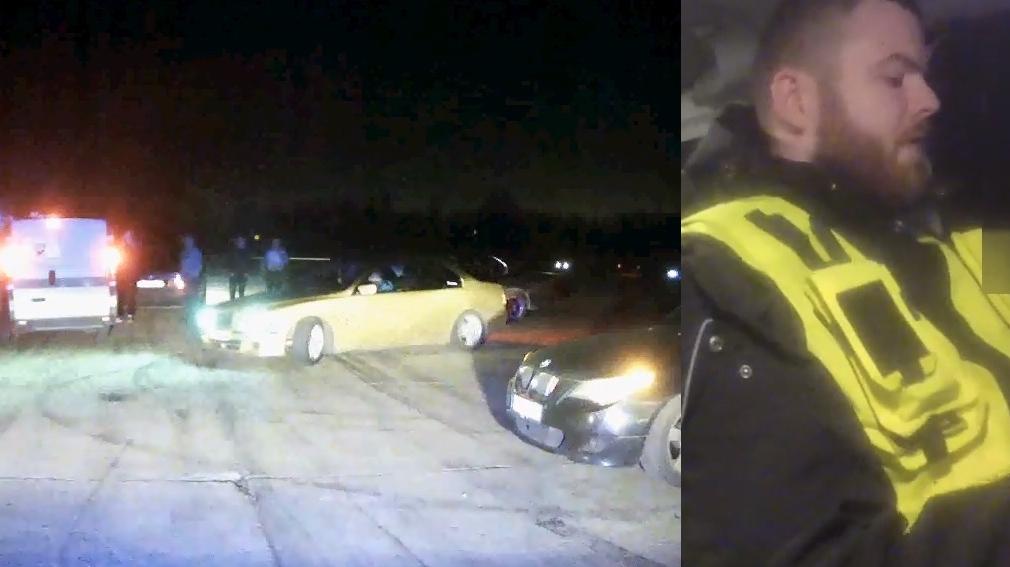 VIDEO: Rumbulas lidlaukā <strong>policija soda par pulcēšanās pārkāpumiem</strong>