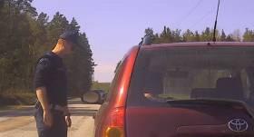 VIDEO: Ķeguma novadā ceļu policija notver pārkāpēju, kas <strong>traucies ar 171 km/h</strong>