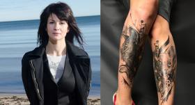 Kristīne Belicka tiek pie <strong>kaķu tetovējumiem</strong>