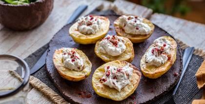 Aromātiskās kartupeļu pusītes