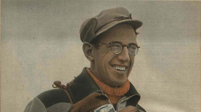 Latvijas lepnums - ātrslidotājs Alfons Bērziņš (1916 - 1987).
