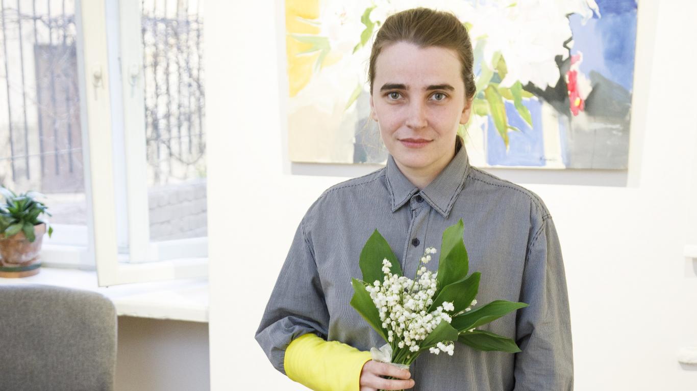 Māksliniece Neonilla Medvedeva <strong>sirdsmieru atgūst pareizticīgo korī</strong>