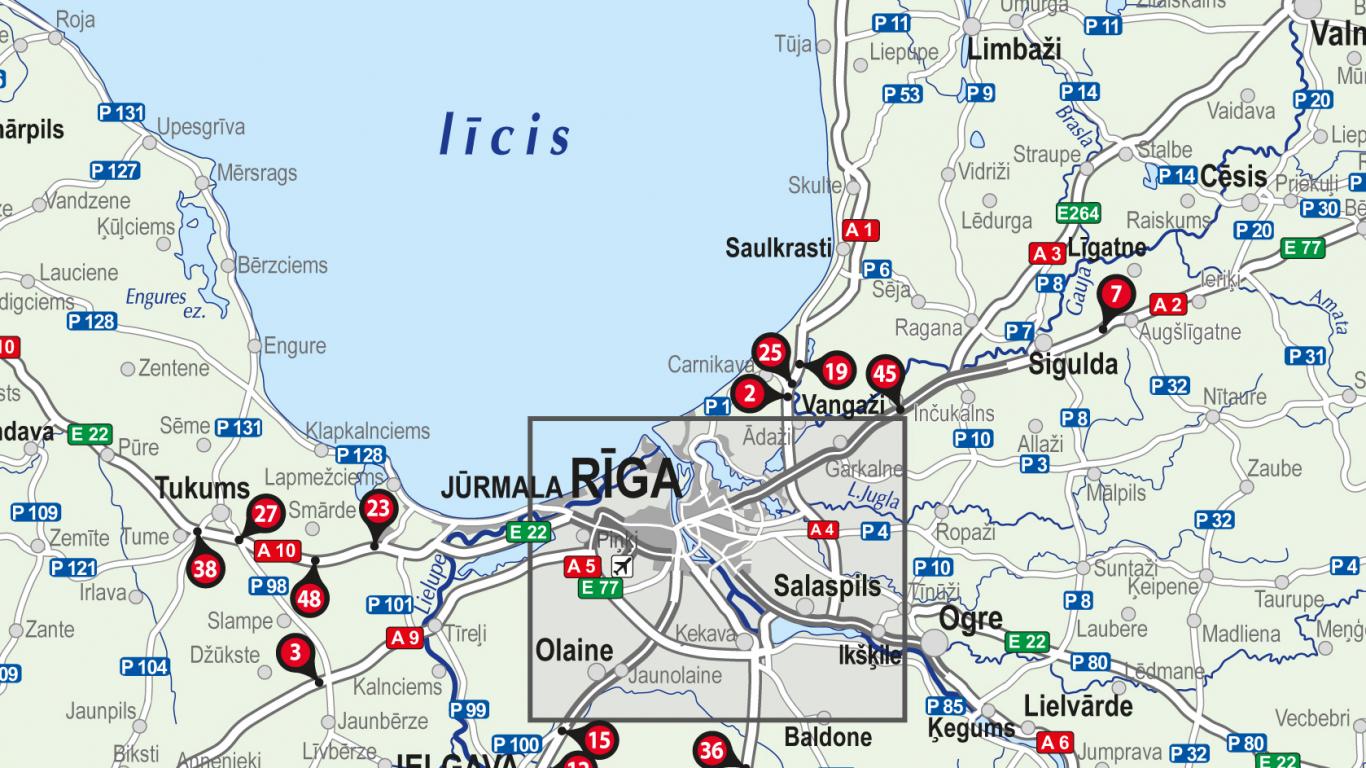 Izveidota jaunā Latvijas autoceļu <strong><em>melno punktu</em> karte</strong>
