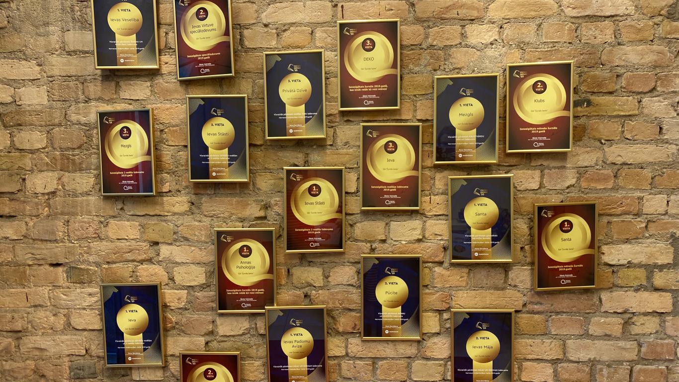 Apbalvoti gada veiksmīgākie izdevumi: <strong>Izdevniecība Žurnāls SANTA iegūst 18 balvas</strong>