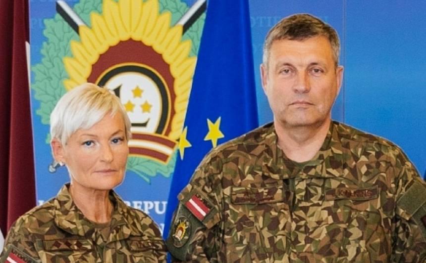 Pulkvede Ilze Žilde un ģenerālleitnants Leonīds Kalniņš