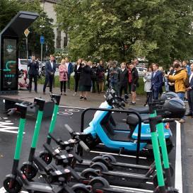 FOTO: Atklāts pirmais <strong>mobilitātes punkts Latvijā</strong>