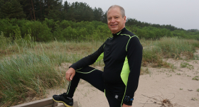 Politiķis Andris Ameriks vīrusa laikā <strong>noskrien vismaz 600 km</strong>