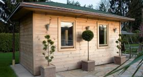 Koka dārza mājiņas