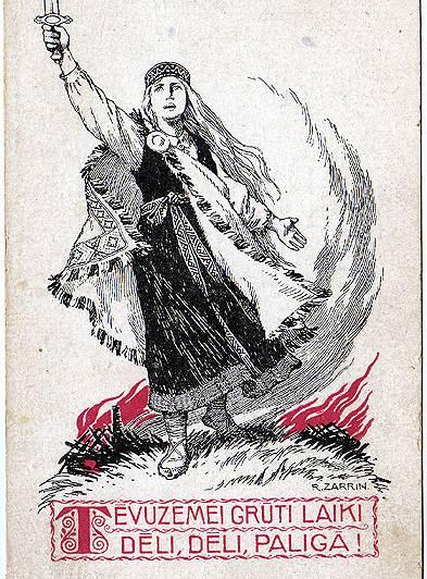 Riharda Zariņa zīmētā pastkarte