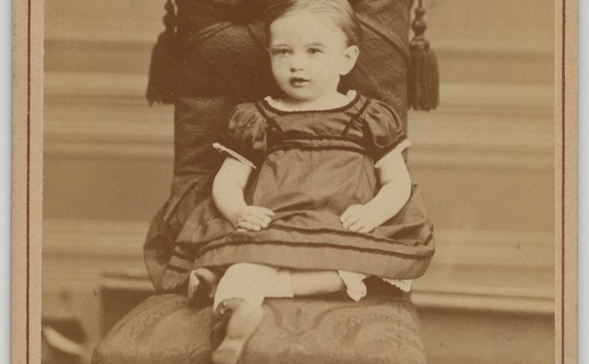 Kārļa Baumaņa meita ANNA KAROLĪNE ELMĪRA BAUMANE 1872. gadā. Viņas mūžs aprāvās jau piecu gadu vecumā.