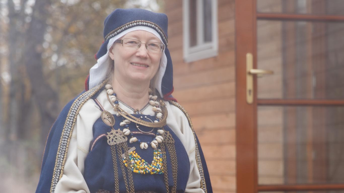 Folkloriste un pirtniece Inese Krūmiņa