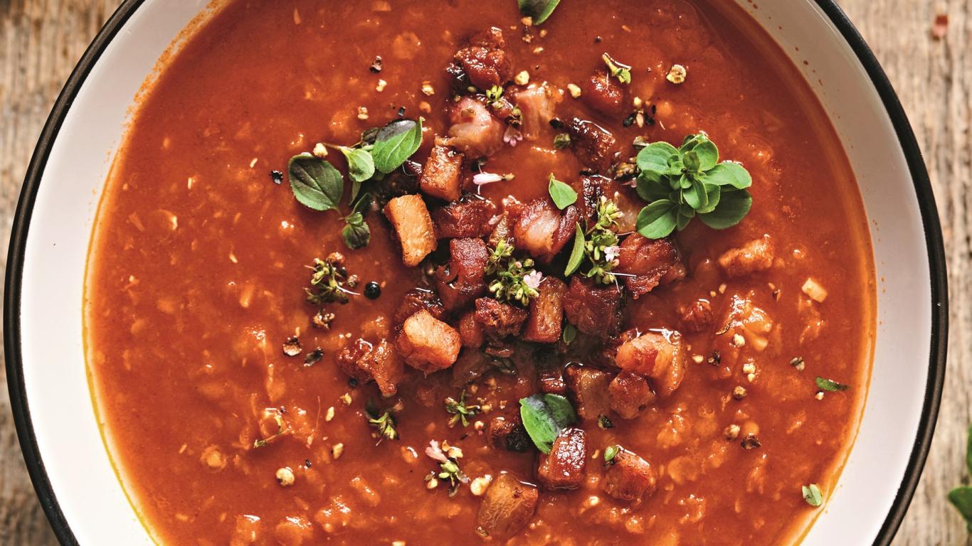 Lēcu zupa ar tomātiem
