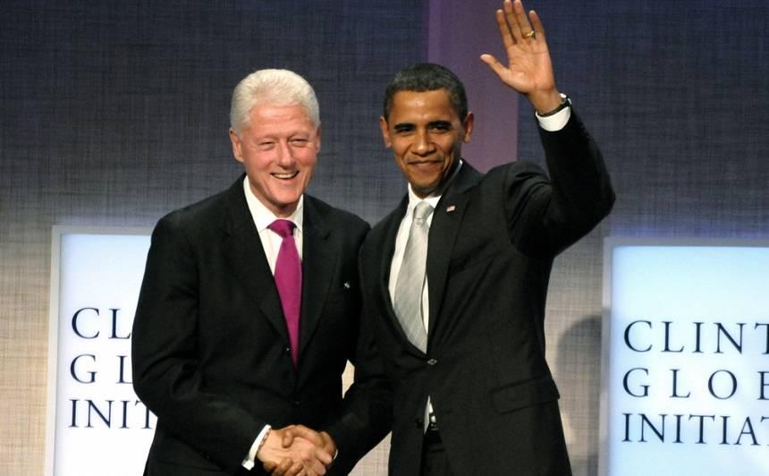 Bils Klintons un Baraks Obama