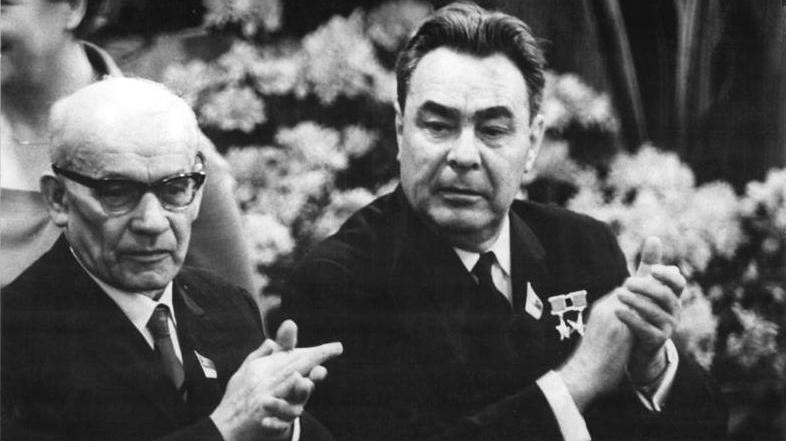 Vladislavs Gomulka un Leonīds Brežņevs