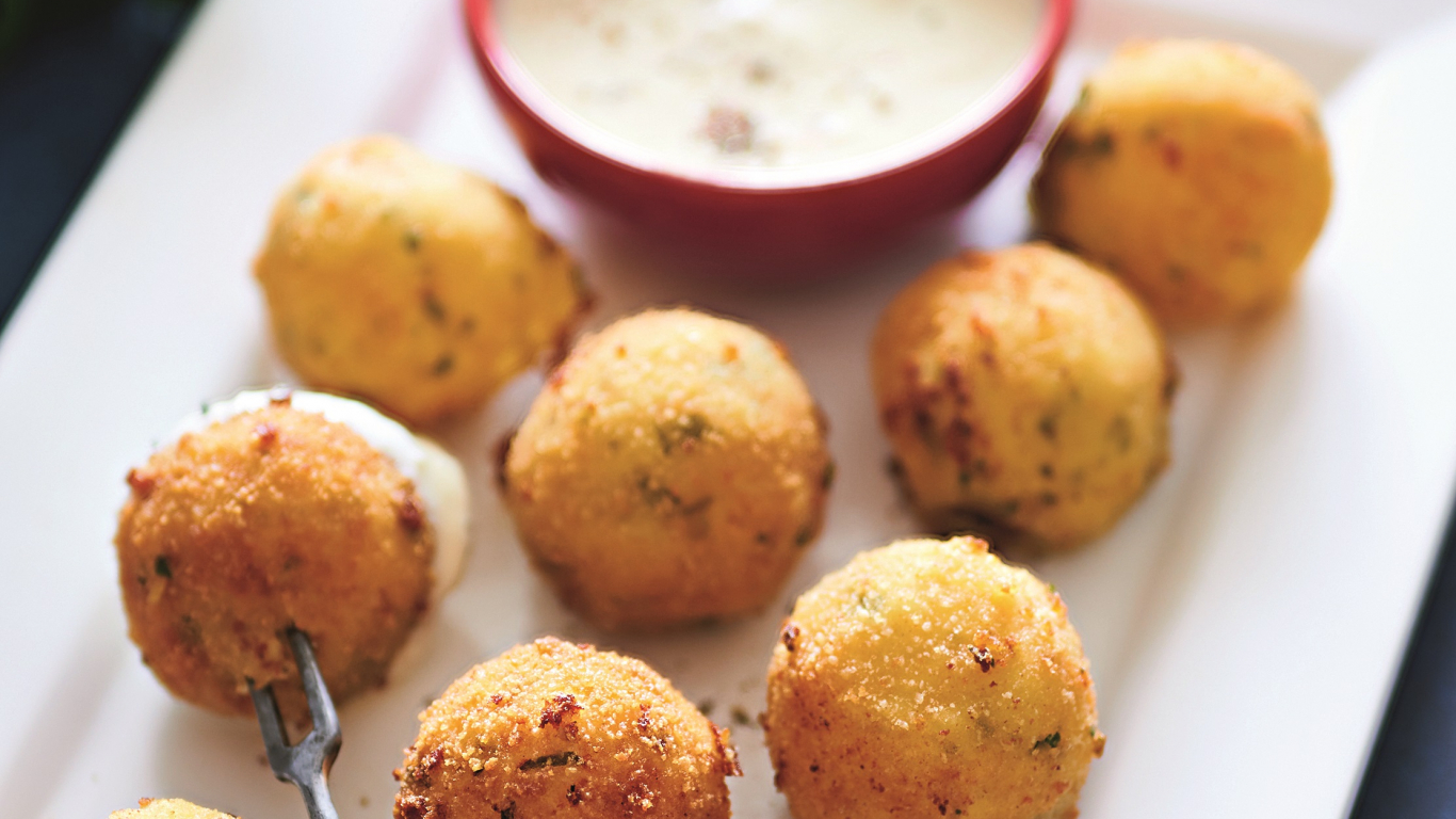 Kartupeļu un siera kroketes