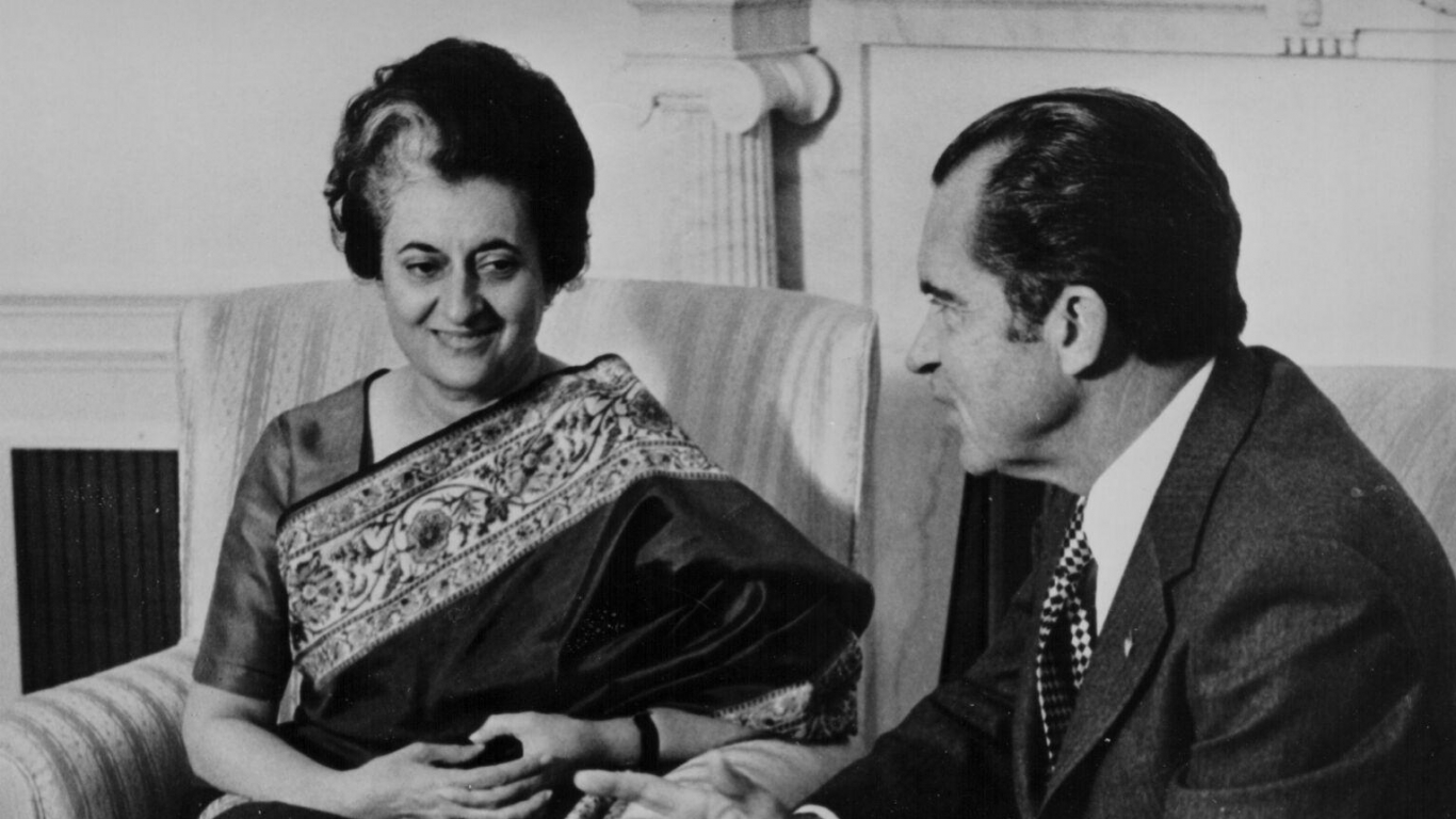 Indira Gandija un ASV prezidents Ričards Niksons