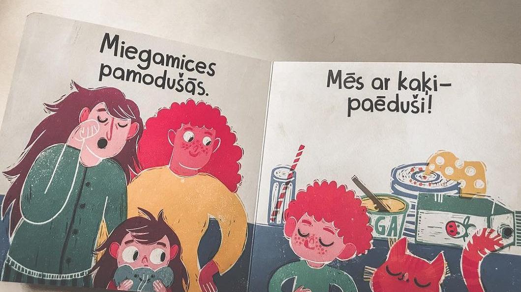 Grāmatas latviešu izdevuma atvērums.
