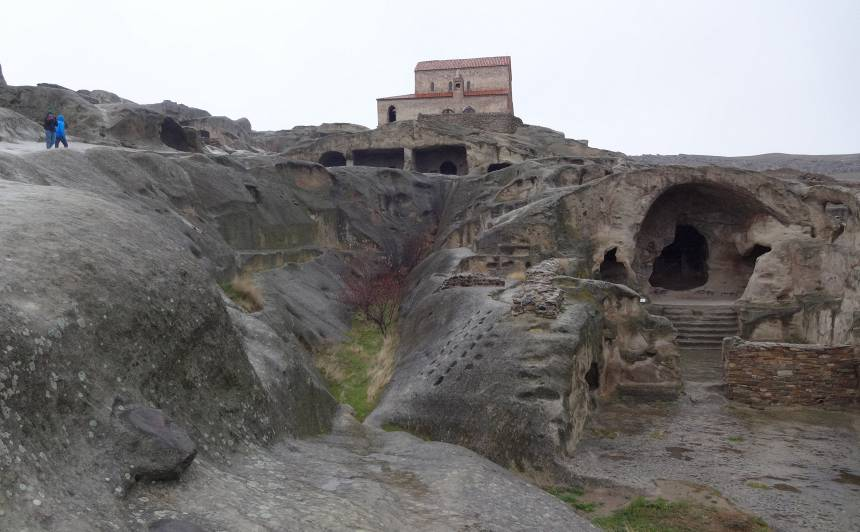 Akmens pilsēta Upliscihe