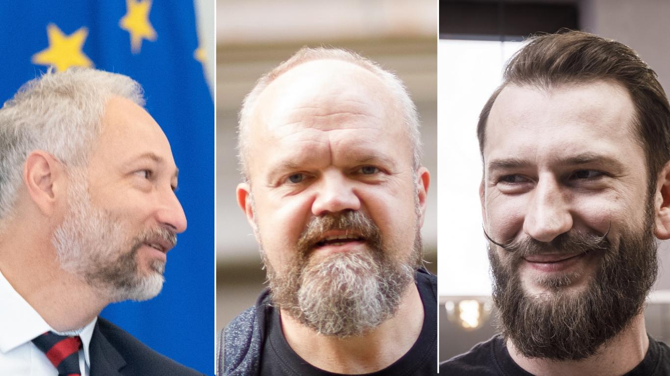 Jānis Bordāns, Māris Sirmais un Kristaps Slakters-Zvejsalnieks.